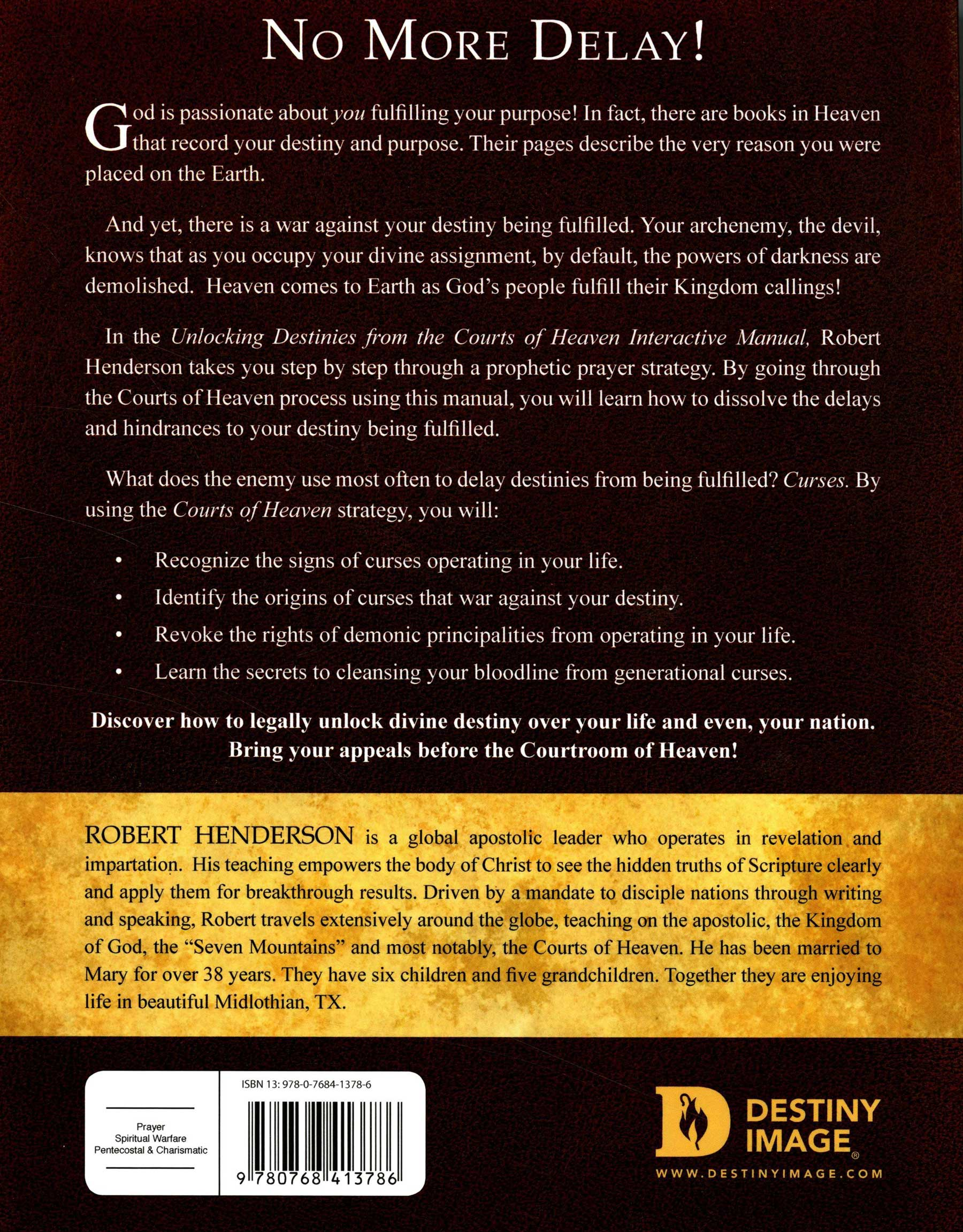 Unlocking Destinies from the Courts of Heaven Curriculum Kit