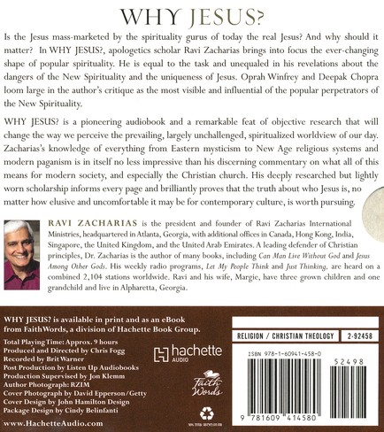 Why Jesus? Rediscovering His Truth in an Age of Mass Market Spirituality Unabridged Audiobook on CD
