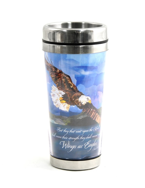 Wings As Eagles Travel Mug