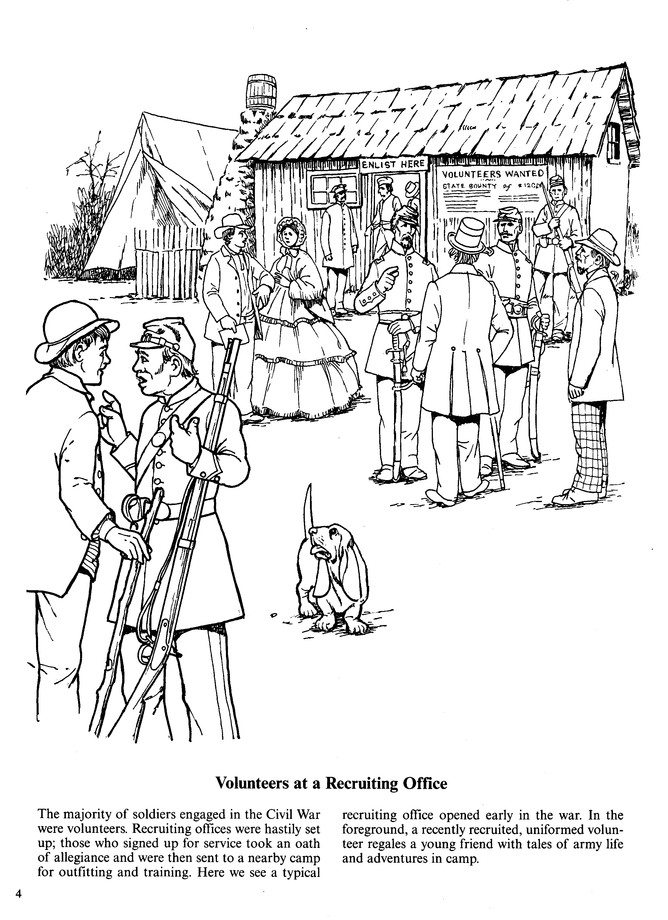A Soldier S Life In The Civil War Coloring Book