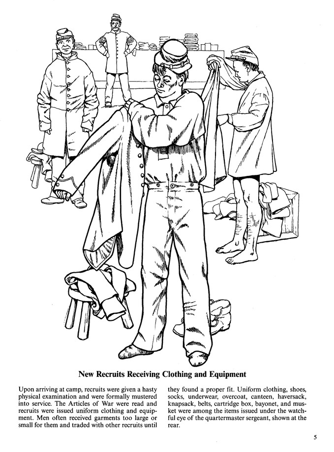 Lincoln With Civil War Troops » Coloring Pages » Surfnetkids | 920x679