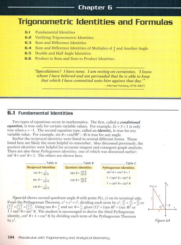 Abeka Pre-Calculus with Trigonometry and Analytical Geometry