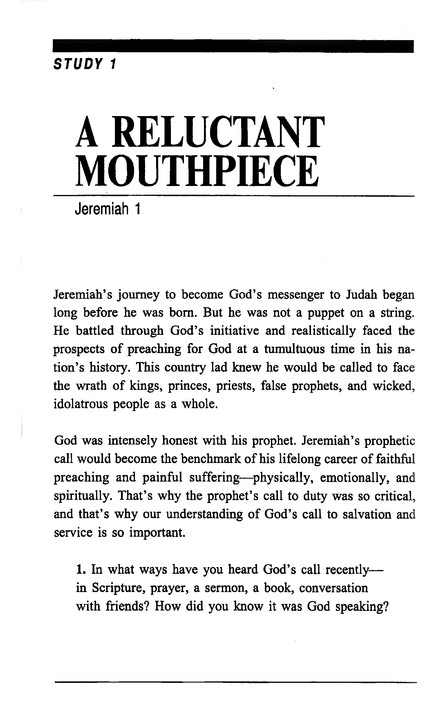 Jeremiah: The Man and His Message,  Fisherman's Bible Studies