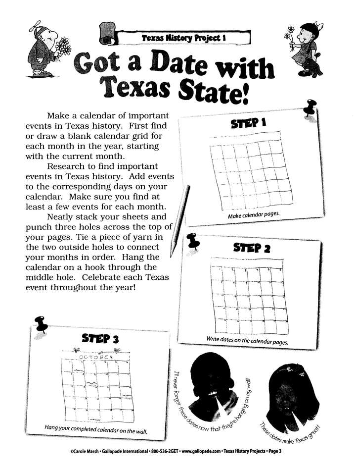 Texas History Project Book, Grades 3-8
