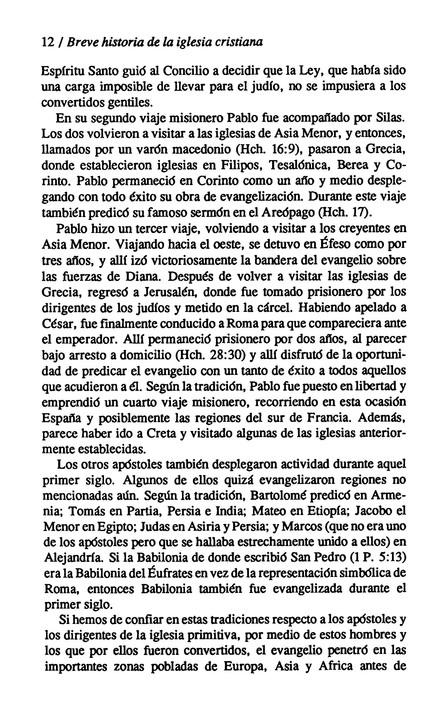 Breve Historia de la Iglesia Cristiana (An Introduction to Church History)