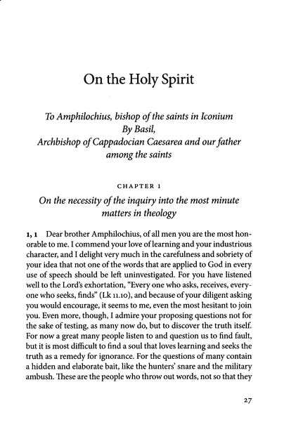 On the Holy Spirit (Popular Patristics)