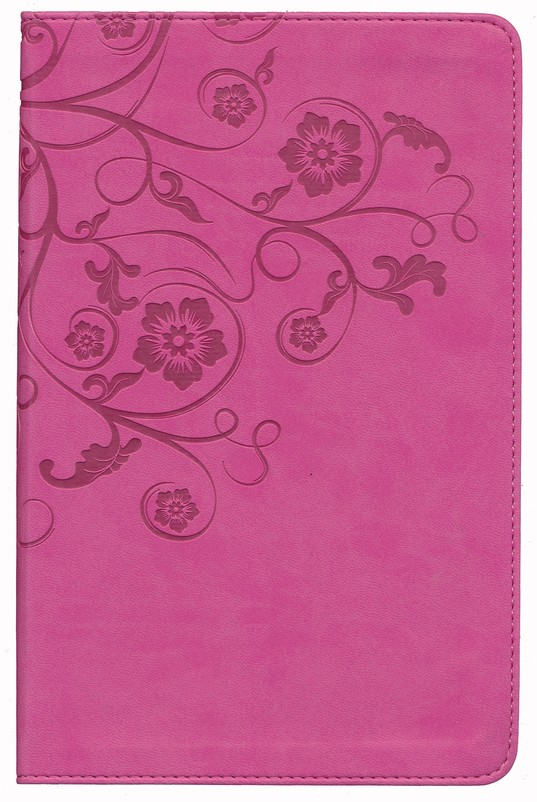 NIV Women's Devotional Bible, Italian Duo-Tone, Raspberry