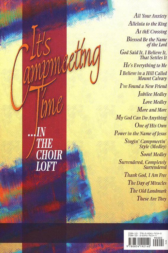 It's Campmeeting Time (in the Choir Loft): Easy to Prepare- Fun to Sing
