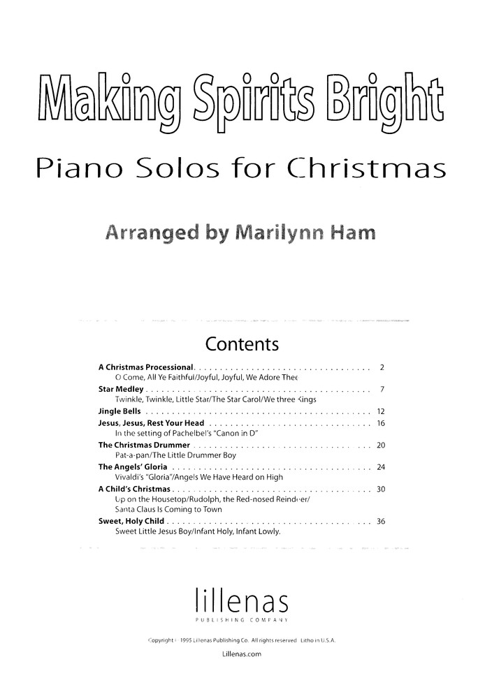 Making Spirits Bright: Piano Solos for Christmas