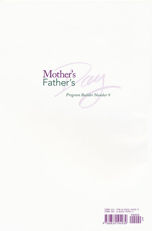 Mother's Day & Father's Day Program Builder # 9