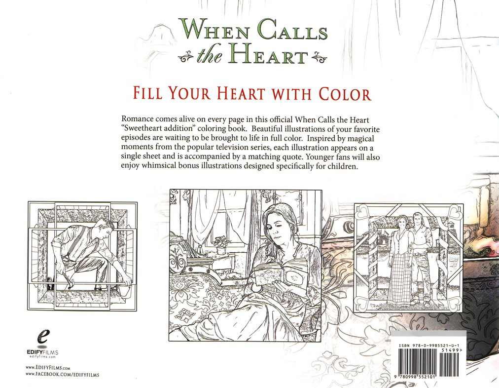 When Calls the Heart Coloring Book: Sweetheart Edition
