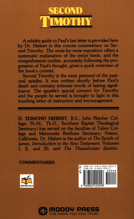 Second Timothy: Everyman's Bible Commentary
