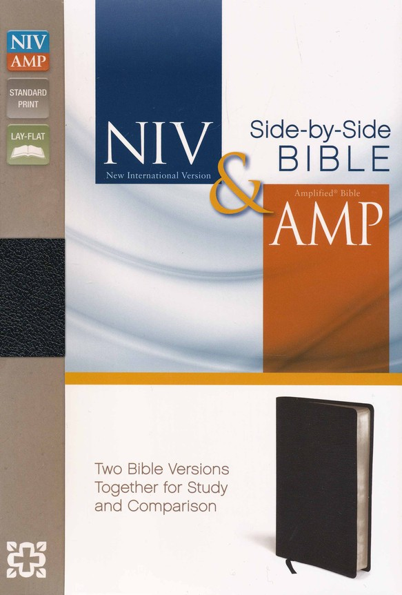 NIV and Amplified Side-by-Side Bible, Black