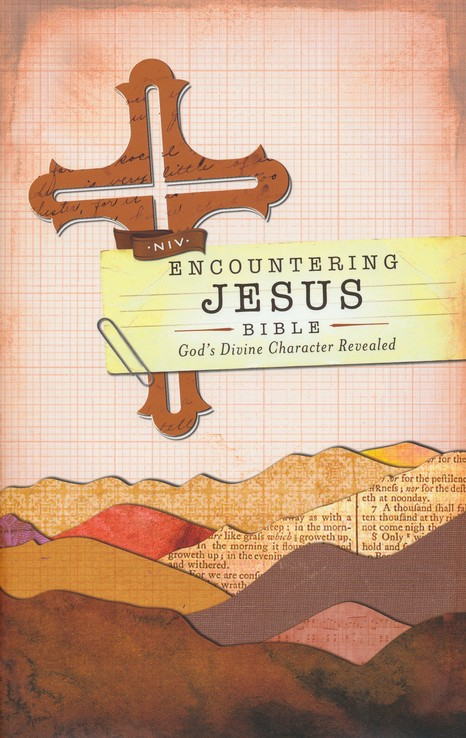 NIV Encountering Jesus Bible: Jesus Revealed Throughout the Bible, Hardcover, Jacketed Printed
