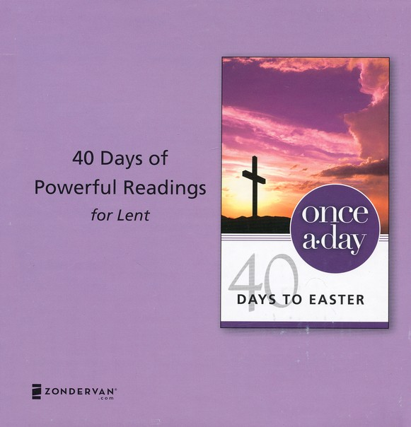 Once-A-Day 40 Days to Easter Devotional, 20 Pack