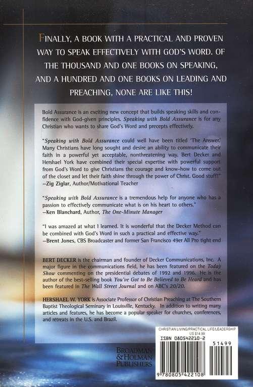 Speaking with bold assurance bert decker hershael w york speaking with bold assurance bert decker hershael w york 9780805422108 christianbook fandeluxe Images