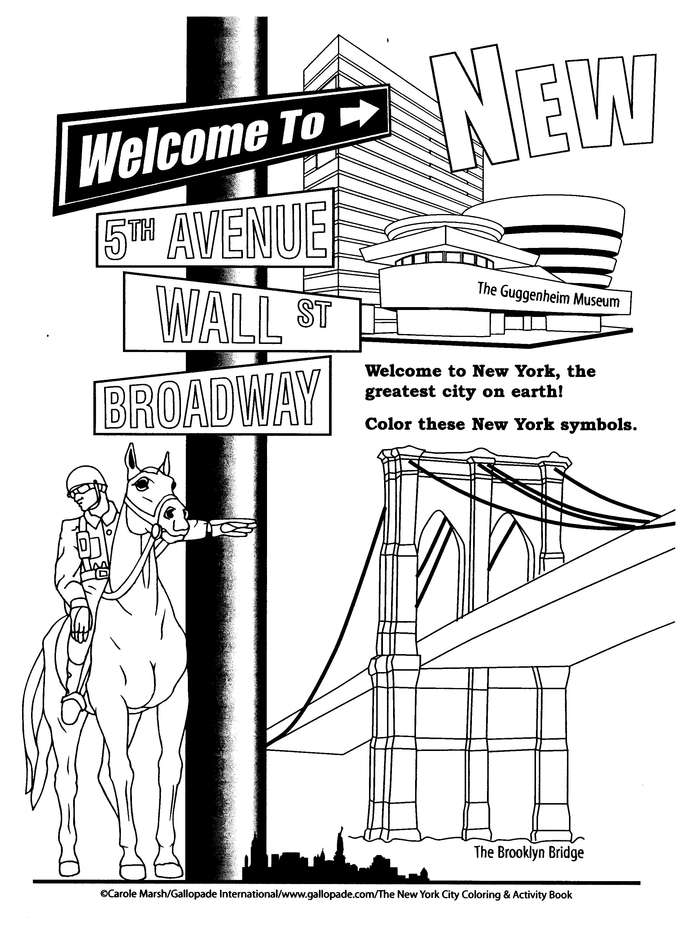 New York City Coloring Activity Book Carole Marsh 9780635022264