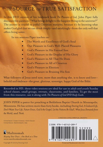 The Pleasures of God DVD: Meditations on God's Delight in Being God