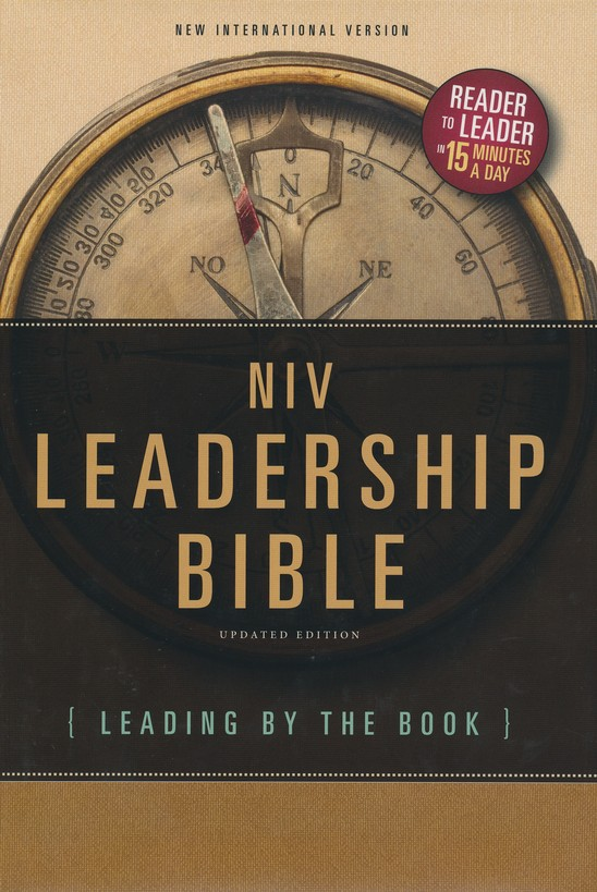 NIV Leadership Bible: Leading by The Book, Hardcover, Jacketed Printed