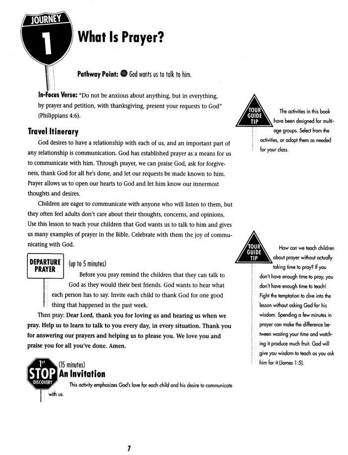 Kids' Travel Guide to the Lord's Prayer
