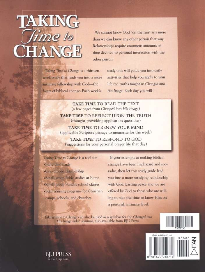 Taking Time to Change: An Interactive Study Guide for Changed into His Image