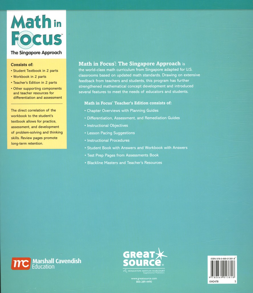 Math in Focus: The Singapore Approach Grade 5 First Semester ...