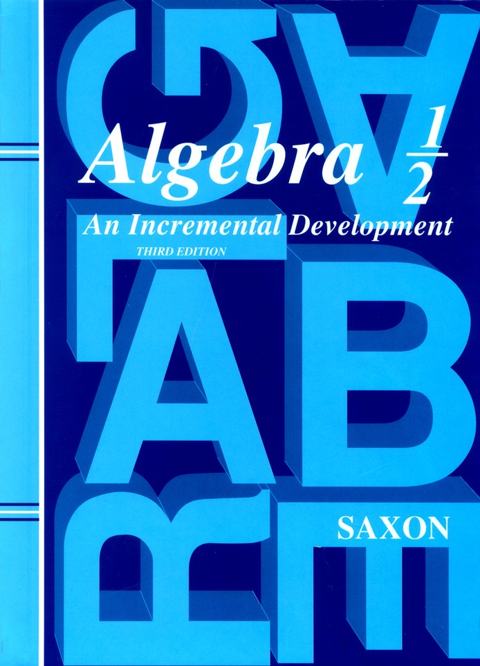 Saxon Algebra 1/2 Homeschool Kit with Solutions Manual, 3rd Ed.