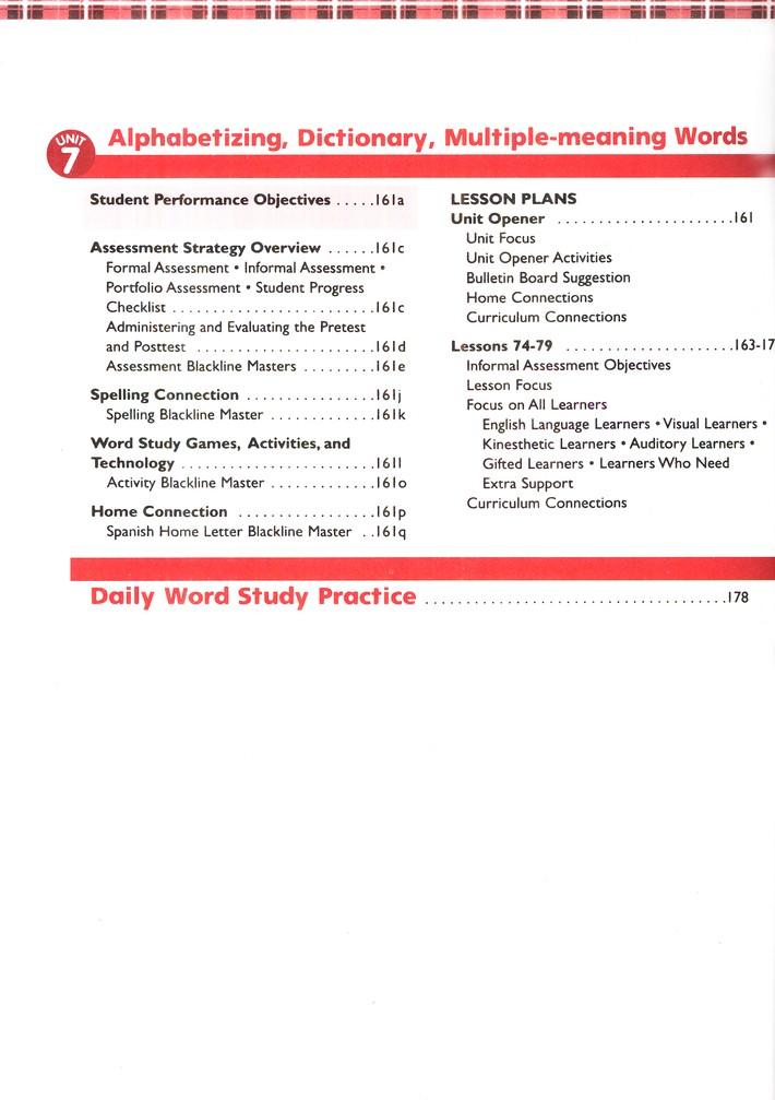 Plaid Phonics Level F Word Study Teacher Resource Guide 2012