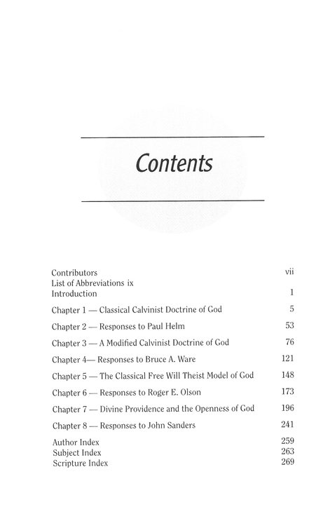 Perspectives on the Doctrine of God: Four Views