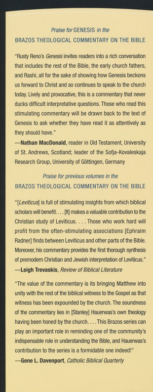 Genesis (Brazos Theological Commentary)
