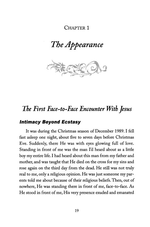 Face-to-Face Appearances from Jesus: The Ultimate Intimacy