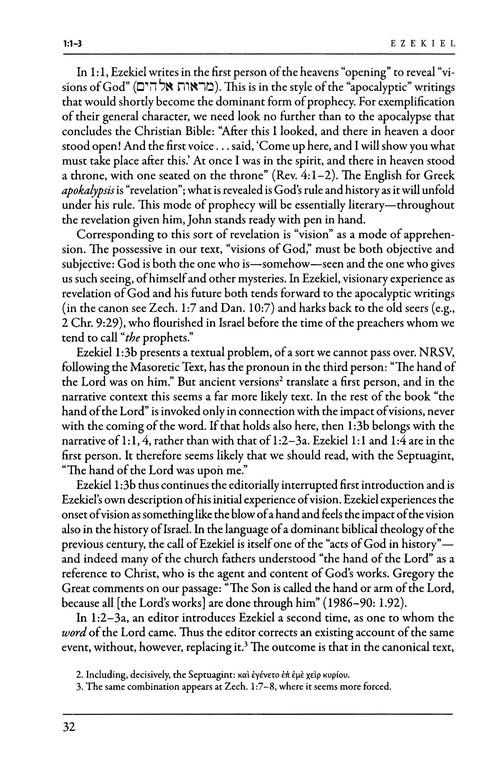 Ezekiel Brazos Theological Commentary On The Bible Robert W