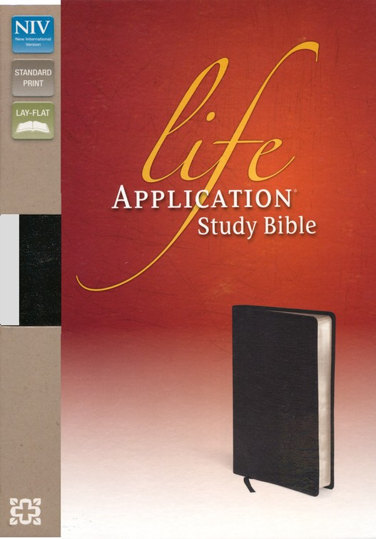 NIV Life Application Study Bible, Top Grain Leather Black