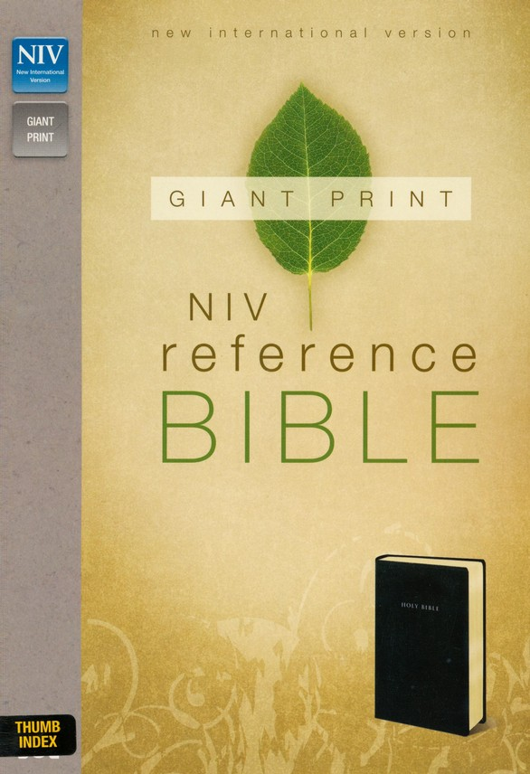 NIV Reference Bible, Giant Print, Black, Thumb-Indexed