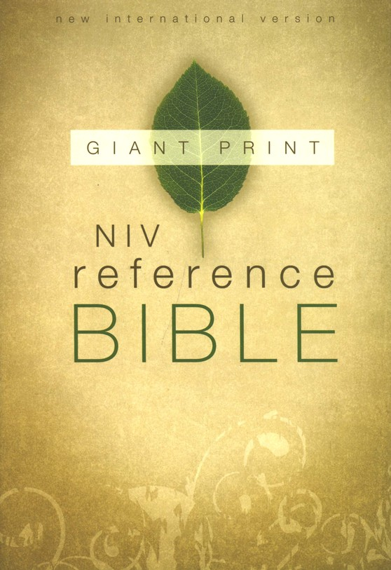 NIV Reference Bible, Giant Print, Thumb-Indexed