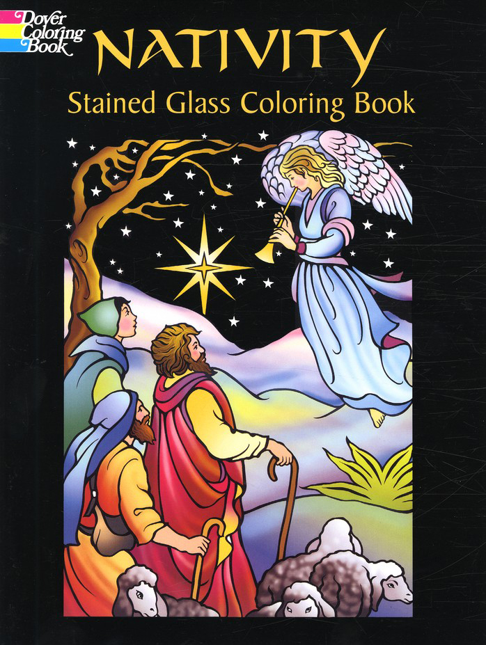 Nativity Stained Glass Coloring Book