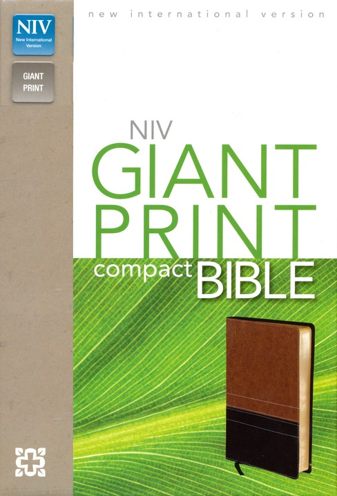 KJV, Reference Bible, Personal Size Giant Print, Leather-Look, Black, Red Letter Edition