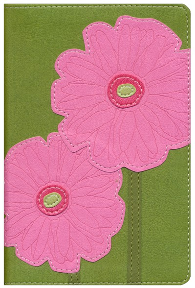 NIV Compact Thinline Bible, Bloom Collection--Gerbera Daisy Duo-Tone