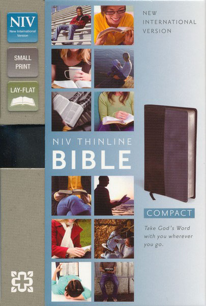 NIV Compact Thinline Bible, Black/Gray Duo-Tone, Limited Edition