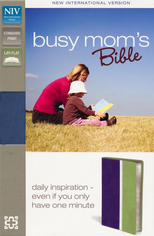 NIV Busy Mom's Bible, Blue/Sea Green Duo-Tone