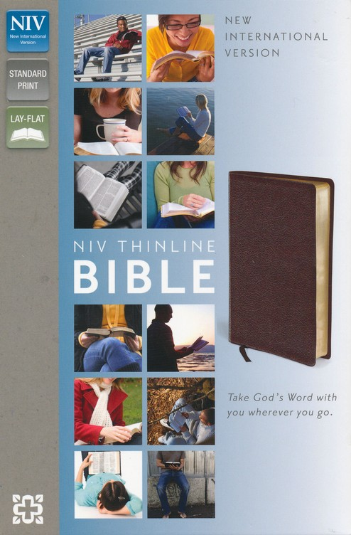 NIV Thinline Bible, Burgundy