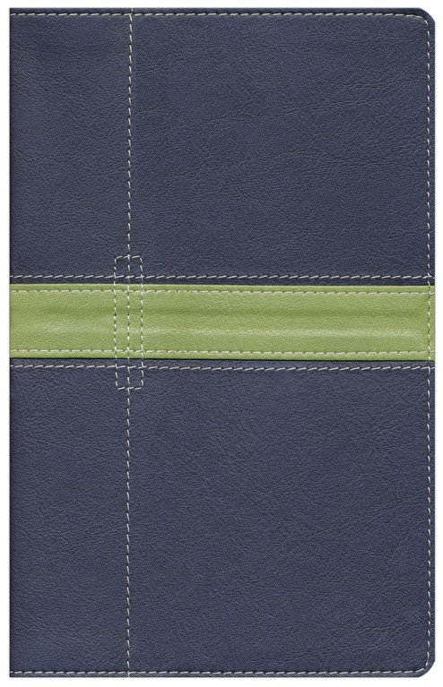 NIV Thinline Bible, Duo-Tone, Midnight Blue/Moss Green
