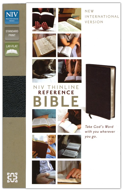 NIV Thinline Reference Bible, Black