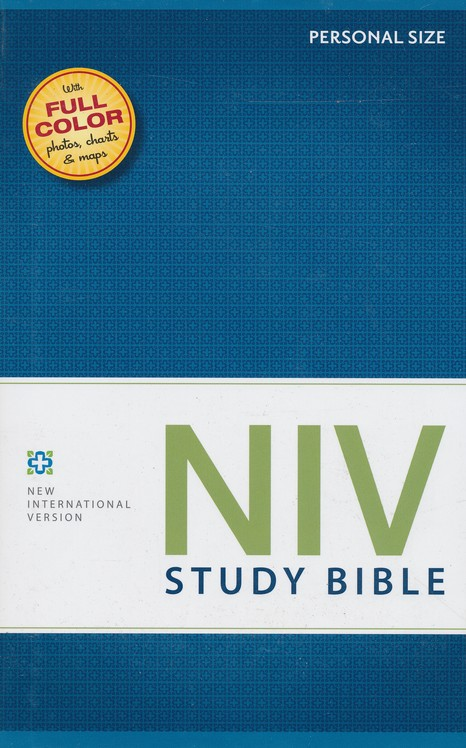 NIV Study Bible, Personal Size, Hardcover