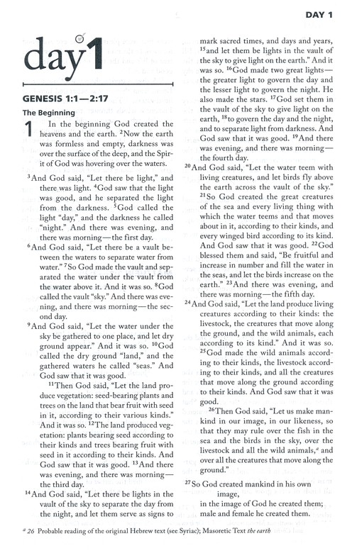 NIV Once-A-Day Bible, Large Print
