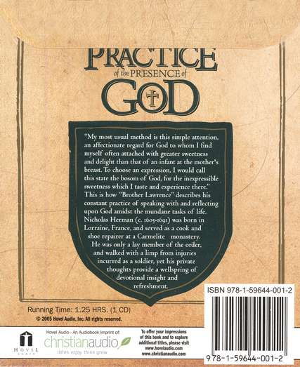 The Practice of the Presence of God - Audiobook on CD