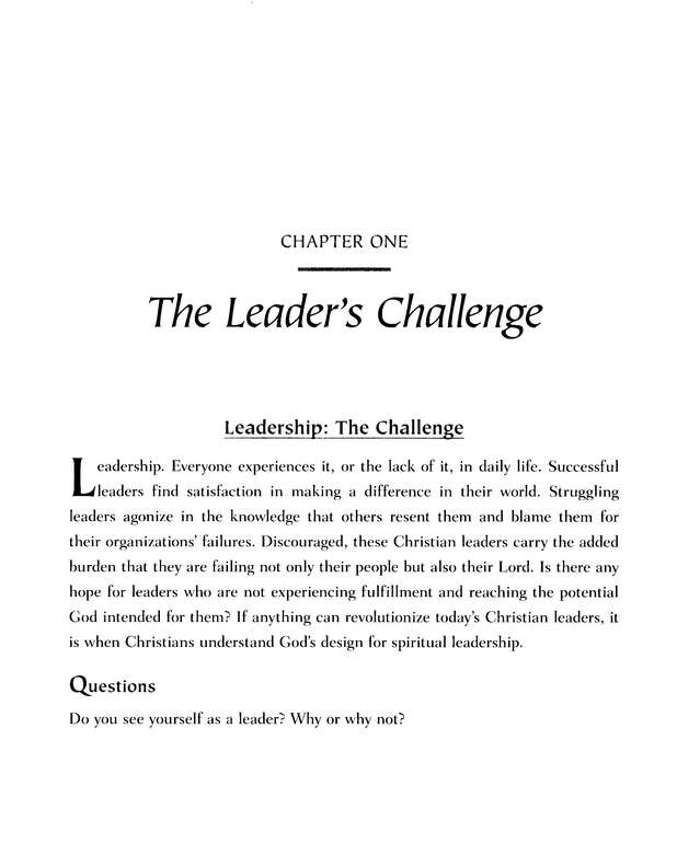 Spiritual Leadership: The Interactive Study