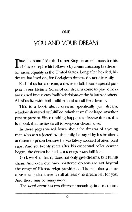 Keep Your Dream Alive: Lessons from the Life of Joseph