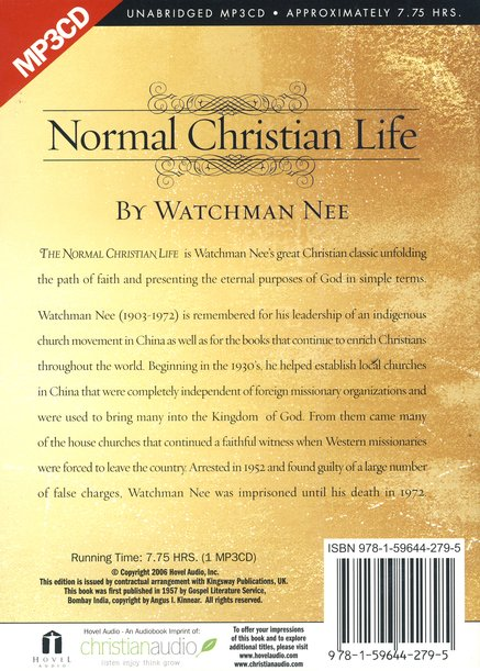 The Normal Christian Life - audiobook on MP3