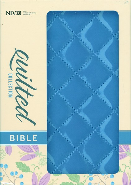 NIV Quilted Collection Bible, Compact, Italian  Duo-Tone, Blueberry